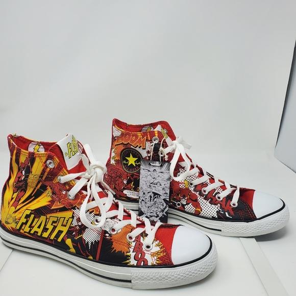 Converse DC Comics Flash Shoes